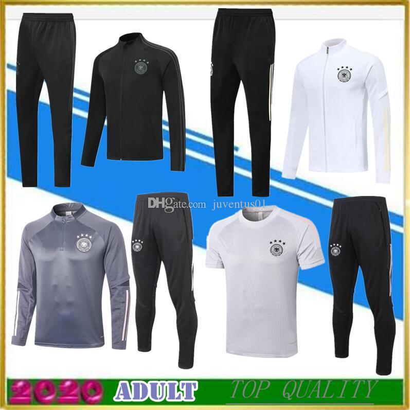 2020 2021 серый тренировочный костюм для взрослых, белый спортивный костюм для футбола, футбольная куртка Survetement, 20 21, черные куртки на молнии, рубашка-поло