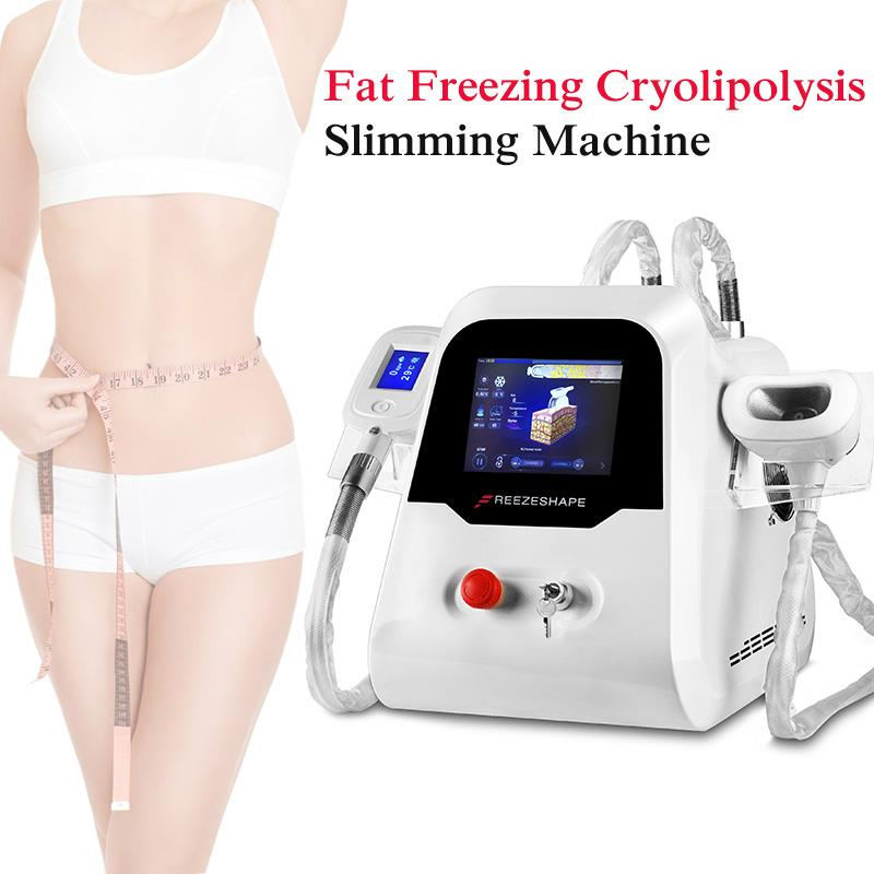 2 Ручки Cryolipolysis жира замораживания Lipofreeze Замораживание Прохладный тела Моделирующая машина для личного пользования Криотерапия красоты для похудения