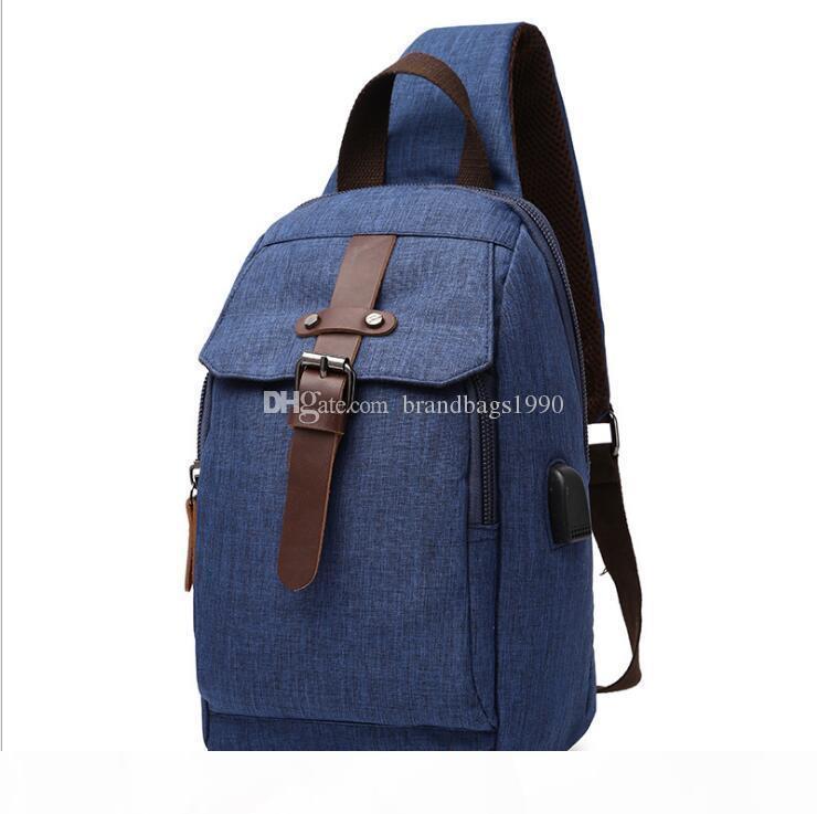 Deep Blue Rucksack-Art-Reise-Gepäck-Beutel Einfachumreifung ein Bügel Tasche Einfarbig spritzwassergeschützt Rucksack für Schüler der Mittelstufe frei s