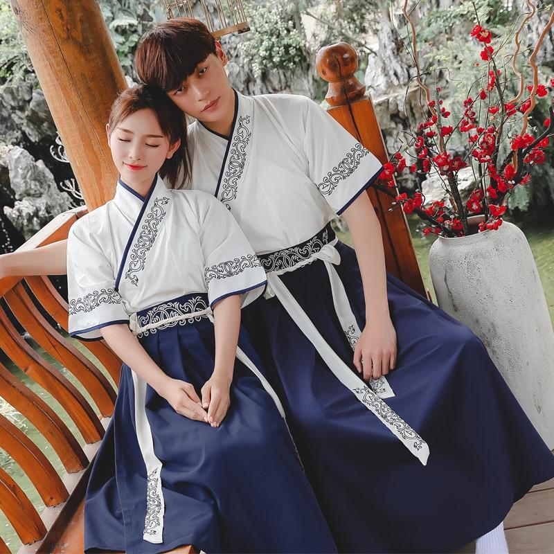 stile migliorato cinese breve abbigliamento quotidiano Skirt ricamato gonna stile di arti marziali elementi cinesi gruppo di studenti vestiti tuta