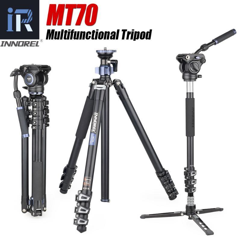 INNOREL MT70 Portable Professional Camera Tripod Monopod Photography Stand Optional Video Head and Desktop Tripod