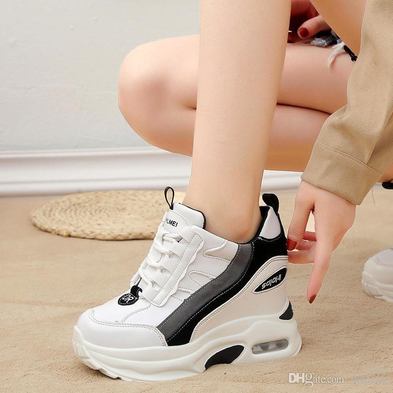 Vente-populaire à chaud dans les chaussures INS femmes hauteur croissante chaussures à semelles compensées hautes Livraison gratuite talon avec la boîte