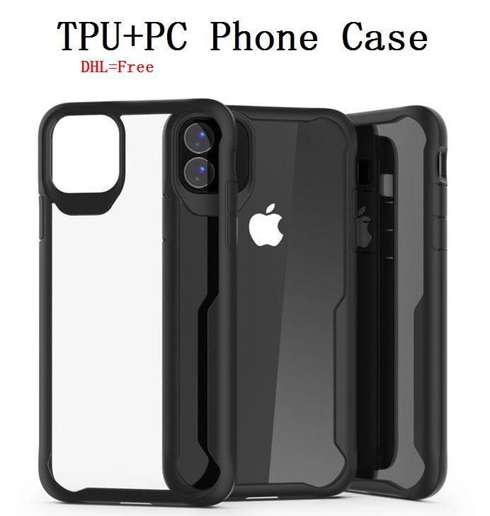 Crystal Clear TPU + PC Phone чехол для iPhone 11 Pro Max Ударопрочный Anti-поцарапайте XR XS 8/7/6 Plus Доспех