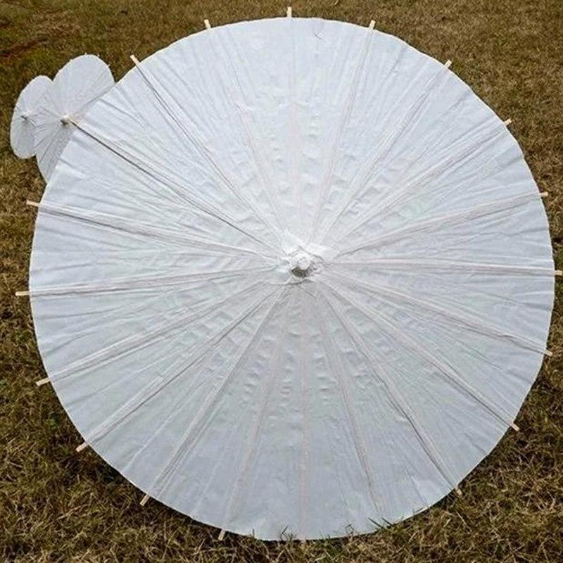Bridal Wedding Parasols White Mini Paper Umbrellas Chinese Mini Craft Umbrella 4 Diameter :20 ,30 ,40 ,60cm Wedding Decoration