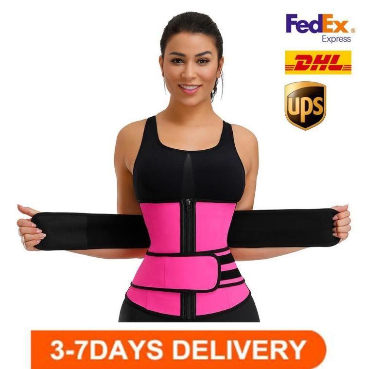 US-Bestände, Unisex-Shaper-Taille Trainer Gürtel Korsett Bauch Abnehmen Shapewear Einstellbare Taille Unterstützung Body Shaper FY8084