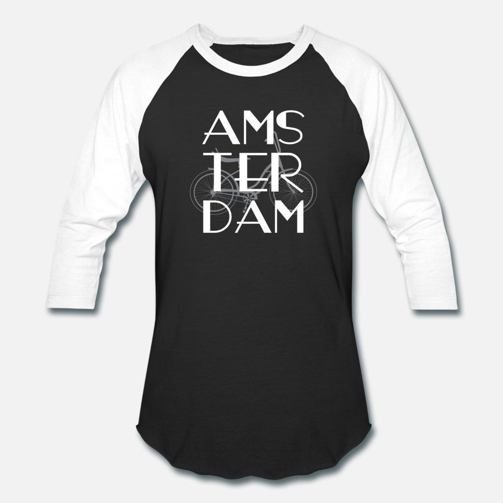 La manera linda Ámsterdam hombres de la camiseta Personalizar camiseta S-3XL de la familia de la camisa del resorte original
