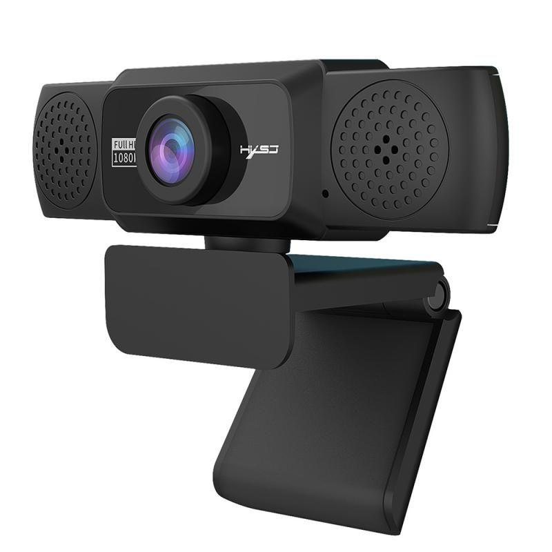 1080P HD веб-камера с микрофоном Вращающегося PC Desktop Web камера Cam Mini Компьютер WebCamera Cam с кронштейном для записи видео работа
