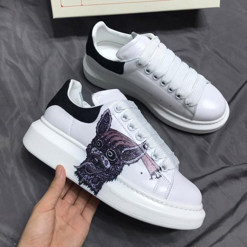 New Triplo couro branco Platform Sneaker Homem Mulher Moda Casual Shoes Shoes Unissex Plano atleta lazer com festa ao ar livre Box