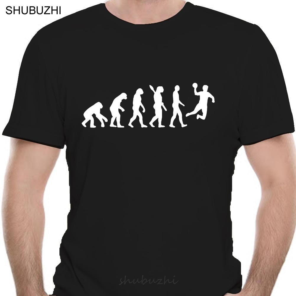 Evolução Handball Camiseta Homens Verão Sleeve Moda Cotton Arrefecer Evolução T-shirt Tops
