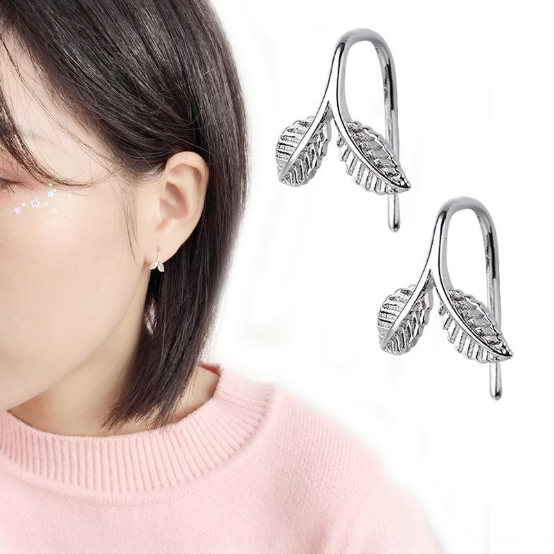 GsOtz креативного дизайна Hipster листьев всходов ухо шпильки ухо крючки студент Mori Art подруги подарок нового для женщин серьги серьги и earrin