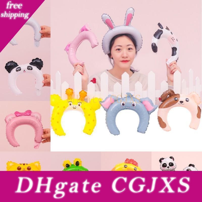 Las orejas de conejo globos cumpleaños de los niños Bandas Panda Fox elefante palillos del pelo del partido del globo de pelo adorable Ballons