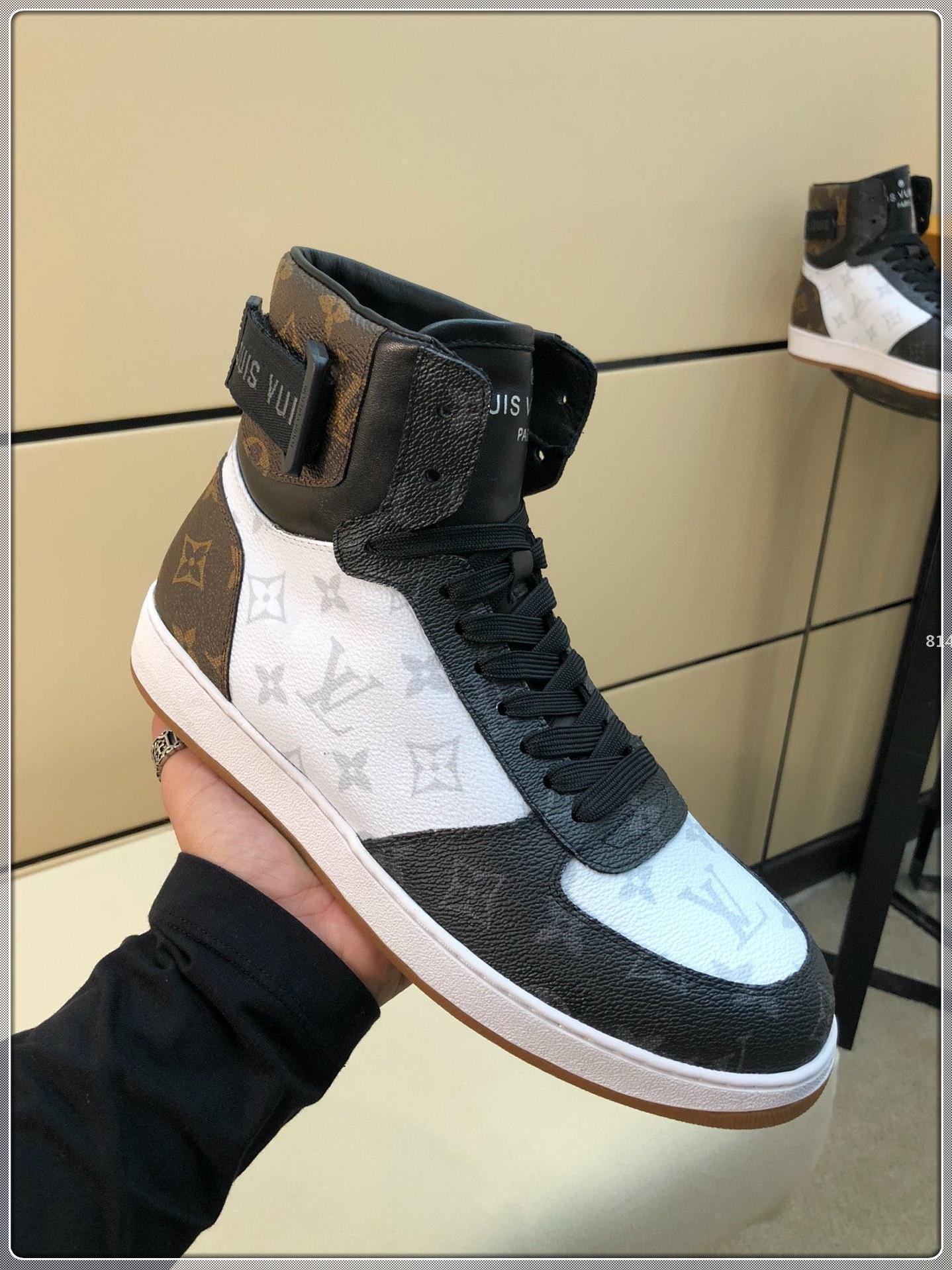 designer de luxo 814 Top Luxury Men Melhor sapatos da moda Com Origem Box Sneakers Moda Lace-up Esporte Homens Marca Calçados New Arrival Tamanho 38-45