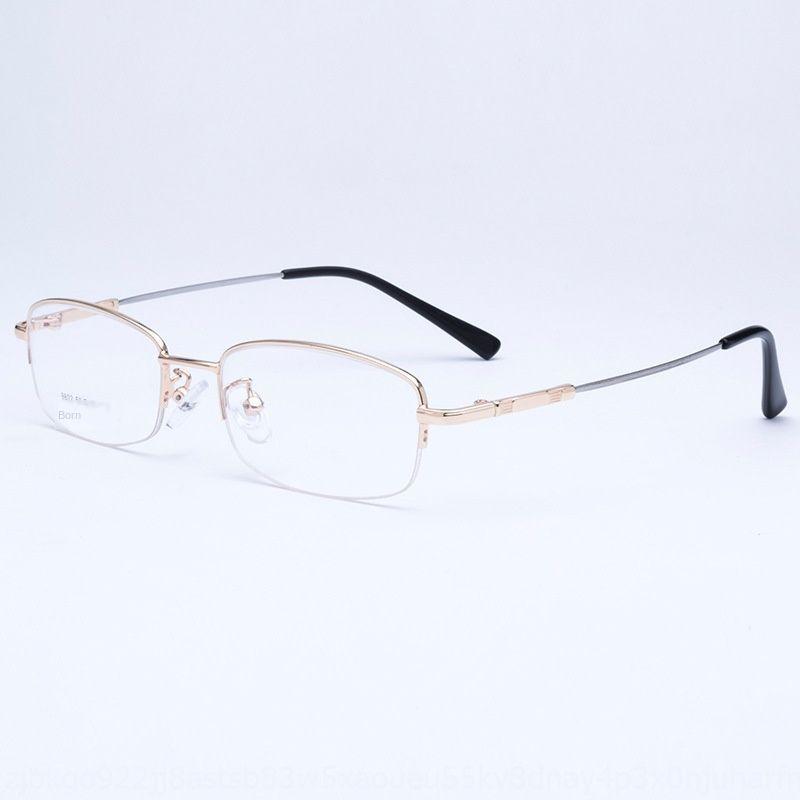 Memory-Metall-Y9802 Halbrahmen Titan Herren-Brille Metall Herren-Glasrahmen Legierung Geschäft Fozhu