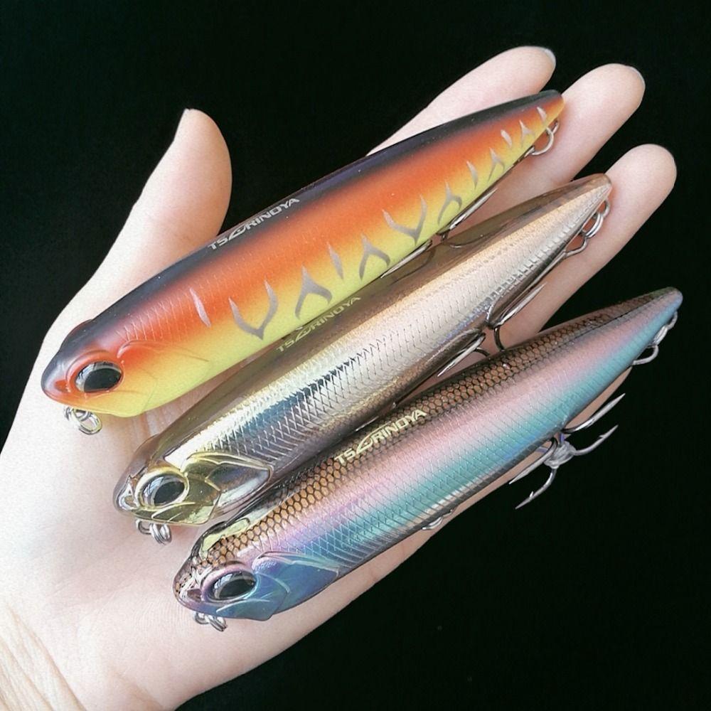TSURINOYA 3pcs 2019 110mm/20.5g Stick Fishing Lure Floating Pencil Longcast Shad Minnow 3D Eyes Artificial Bait Bass Y200827