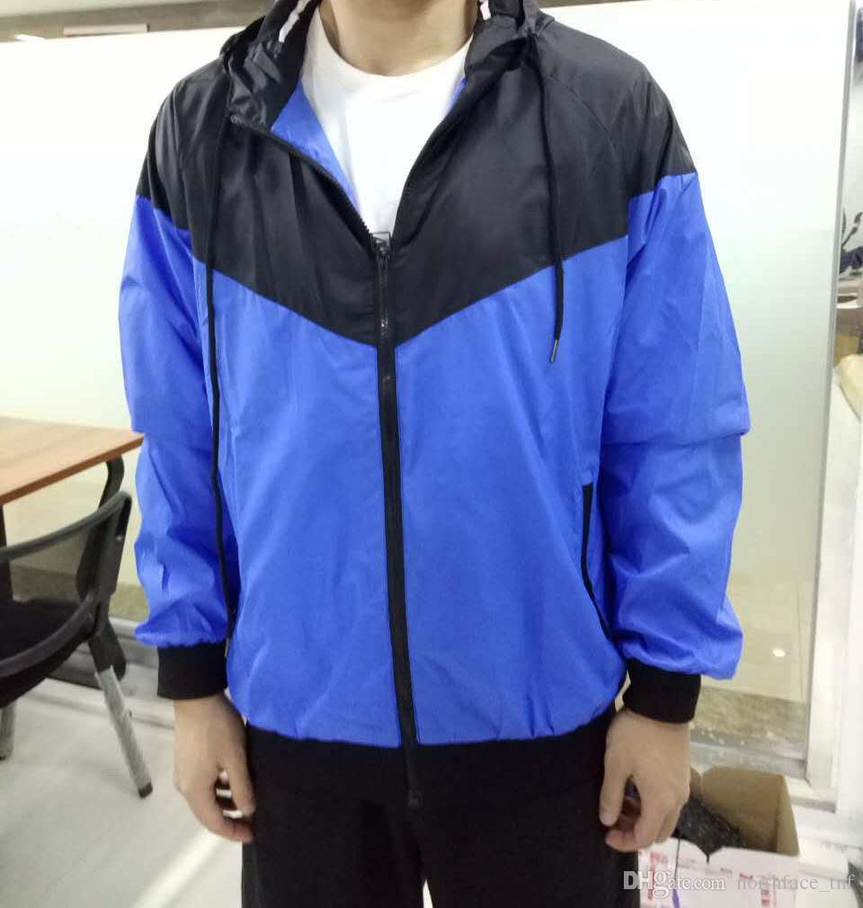 Mens Athletic Vestes Vêtements de marque pour Windbreaker masculin Jacket mince Slim Sport Sports Sports d'été Porter des manteaux occasionnels