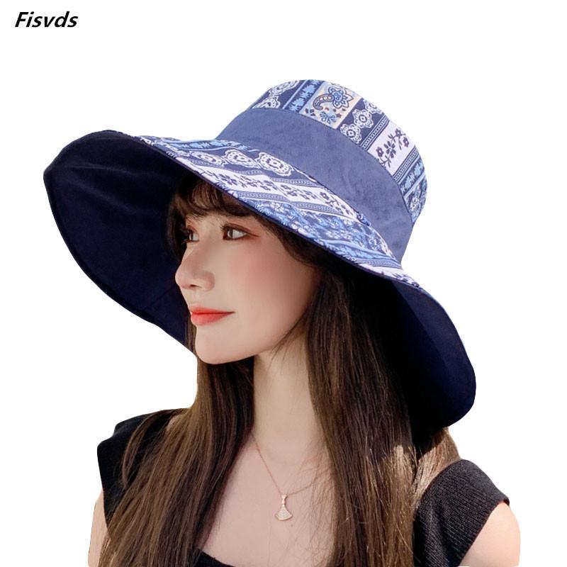 여자 UPF50 챙이 넓은면 태양 모자 챙이 넓은 접이식 롤업 버킷 모자