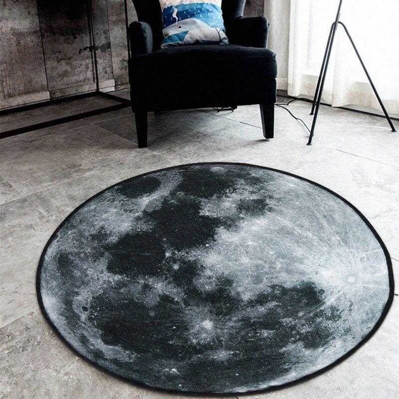 Cilected 3D Imprimir Terra do universo Rodada Tapete Sala Pavimento Mat macio velo Tapete crianças sala de jogos Mat Anti Slip Tapetes Shaw 3ibX #