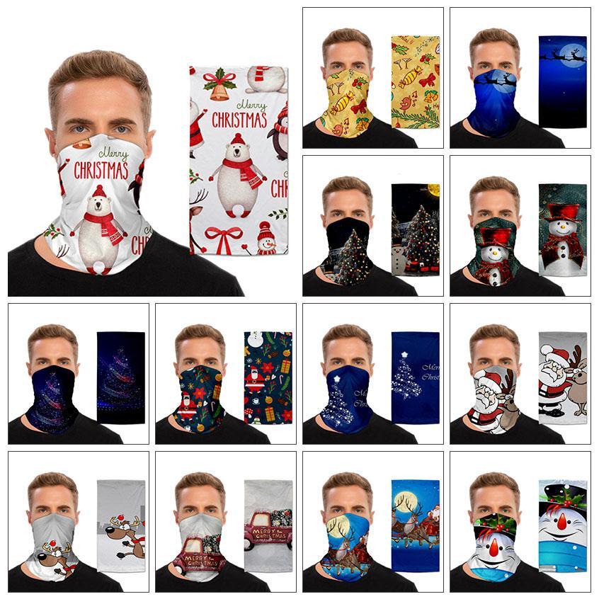 Weihnachten Gesichtsmaske im Freien Gesichtsschild Sport Magie Turban Weihnachtsdekorationen Bergreiten Maske Multifunktionale Lätzchen XD23888