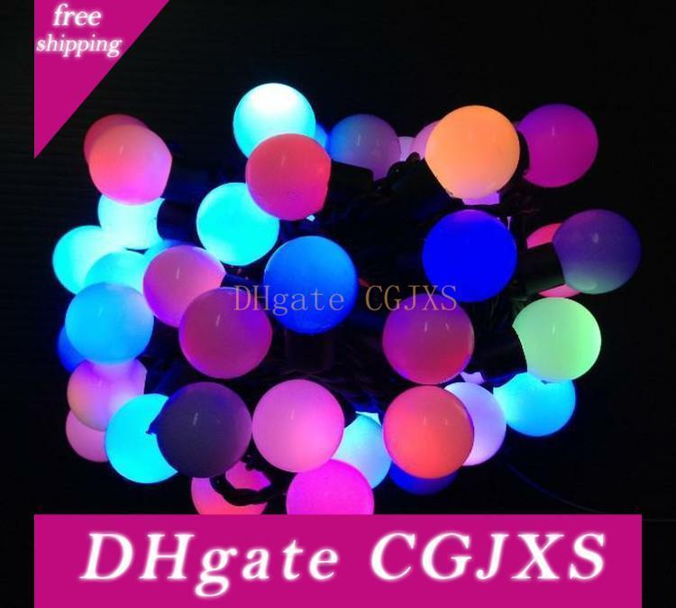 Party String Globe beleuchtet 5m RGB-LED-Schnur-Licht Mini-Kugel-Licht R G B Y Ww W Wasserdichte Hochzeit Weihnachten Lichterketten