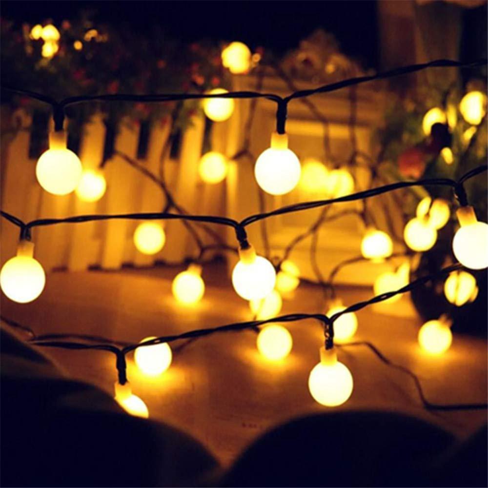 20/50 LEDS Garland Kugel-Schnur-Lichter 5M / 10M Solar-LED-Lichterketten Solar-Garlands Garten Weihnachtsdeko Powered für den Außenbereich