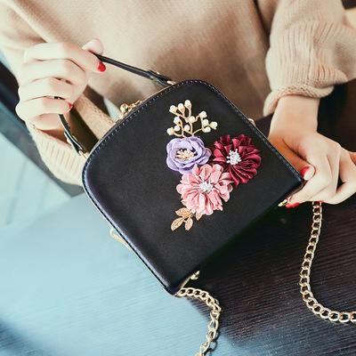 2020 clipe de metal quadrado pequeno saco Flor Jantar New Fashion Ombro Diagonal bolsa sacos de ombro sacos bordados de flores