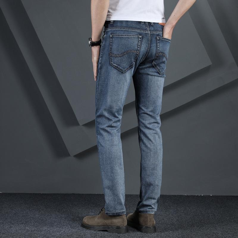 RrSk7 hK1VT 2020 iş yaz yeni erkek düz gündelik rahat pantolon gevşek kot ve kot erkek ultra ince pantolon