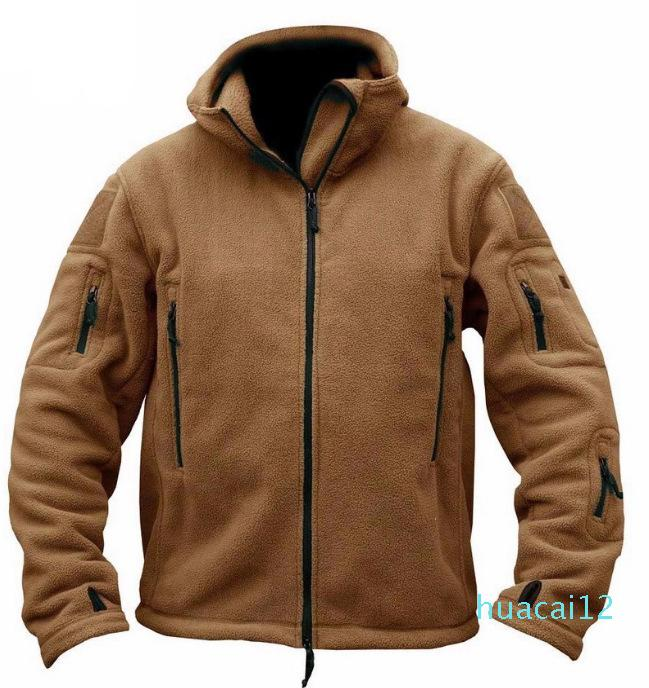 Hot Sale New Military Man Fleece Tactical Jacket Outdoor Polartec Wholesale Thermal Breathable Sport Hiking Polar Jacket High Quality