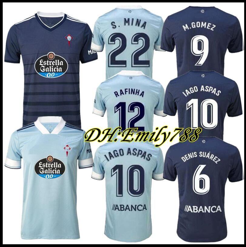 Hommes + Kids 2021 2020 Celta Vigo Soccer Jersey 20 21 Celta de Vigo Bongonda Hernandez Nolito Accueil Chemise de football Jerseys 2020