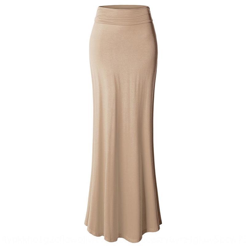 EZ2O6 высокая талия установлена растяжение дна работы сплошного цвета профессионального бедра покрытого тонкой юбка даной Li QUN сексуальные юбок