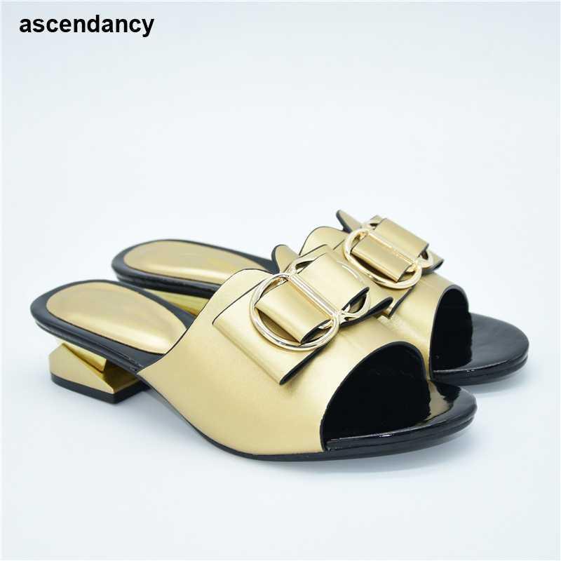 Scarpe da sposa italiani In alta qualità delle donne africane Lady Estate Calzature Autunno Daily 4 Cm strass Donna Nozze scarpe eleganti