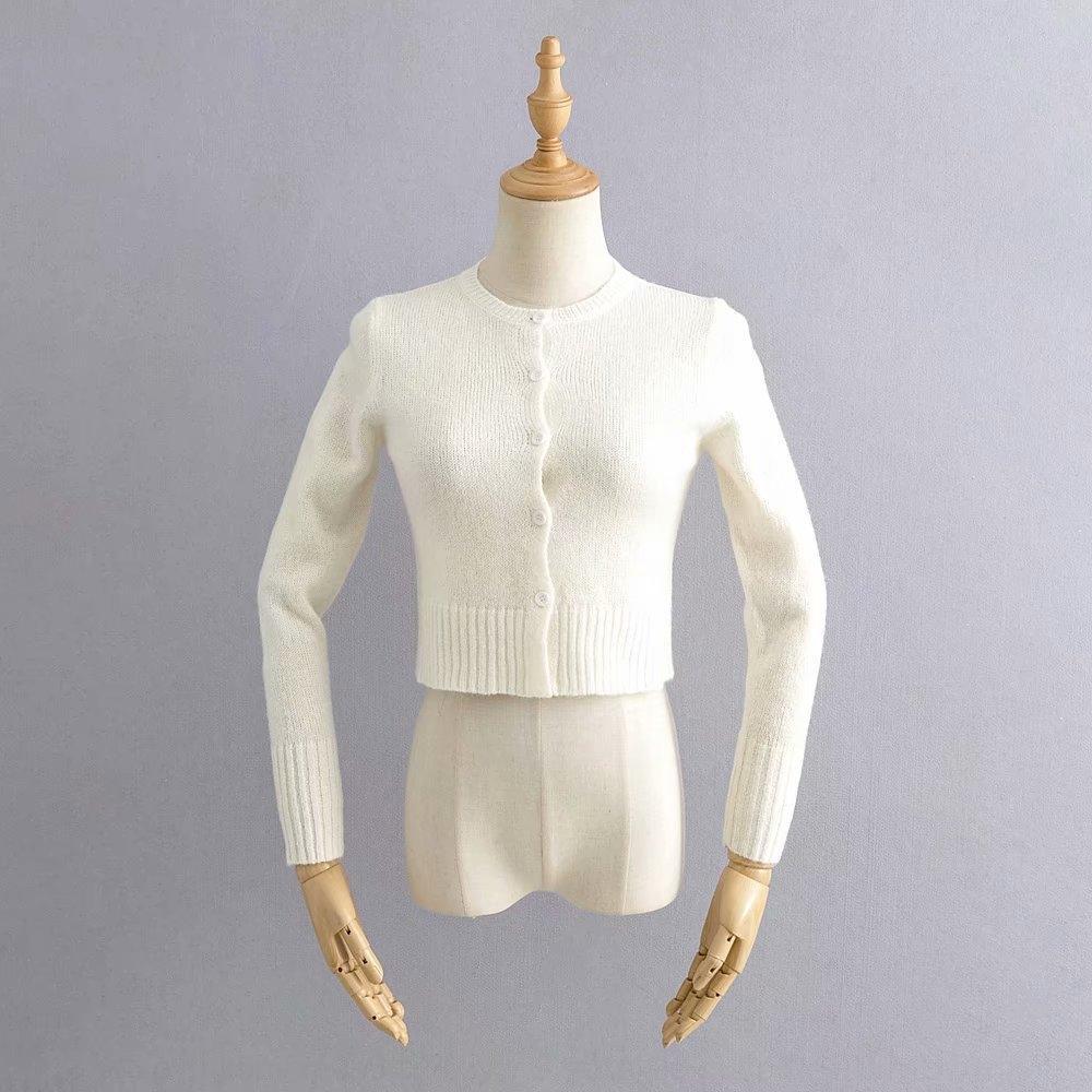 coat casaco estilo coreano linha cardigan fino superfície primavera botão Fk03L ZeLg4 C297-20 cintura fina em torno do pescoço único ajuste manga longa de malha