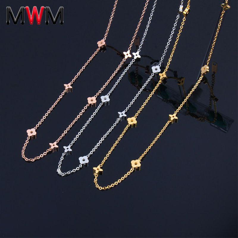 MWM paslanmaz çelik zincir Collier chocker uzun kolye kadın giyim aksesuarlar bijuteri takı kolyeler