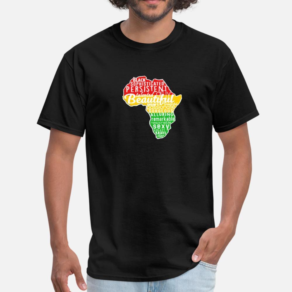 Mélanine Afrique t shirt homme caractère à manches courtes col rond Vintage Fitness Humour Printemps Automne Nouveauté chemise