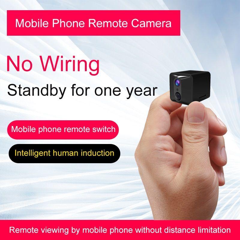 HD 1080P mini macchina fotografica di Wifi 2400mAh lungo standby WiFi IP Camera AI PIR umano rilevamento del corpo di allarme a infrarossi di visione notturna Camera