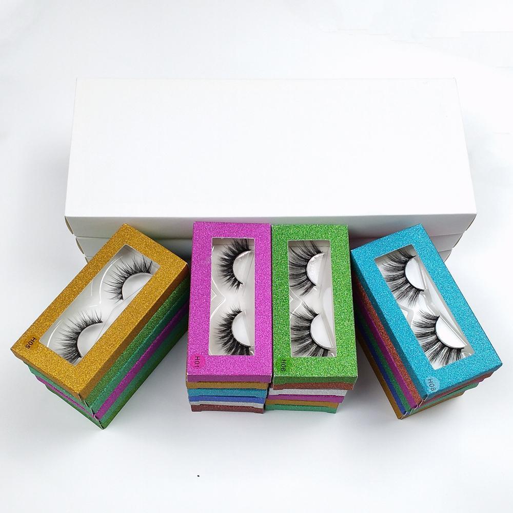 Großhandel Wimpern 10-Art 3D-Mink Lashes Masse Natur Mink Wimpern Großhandel falsche Wimpern Makeup Falsche Wimpern-Pack