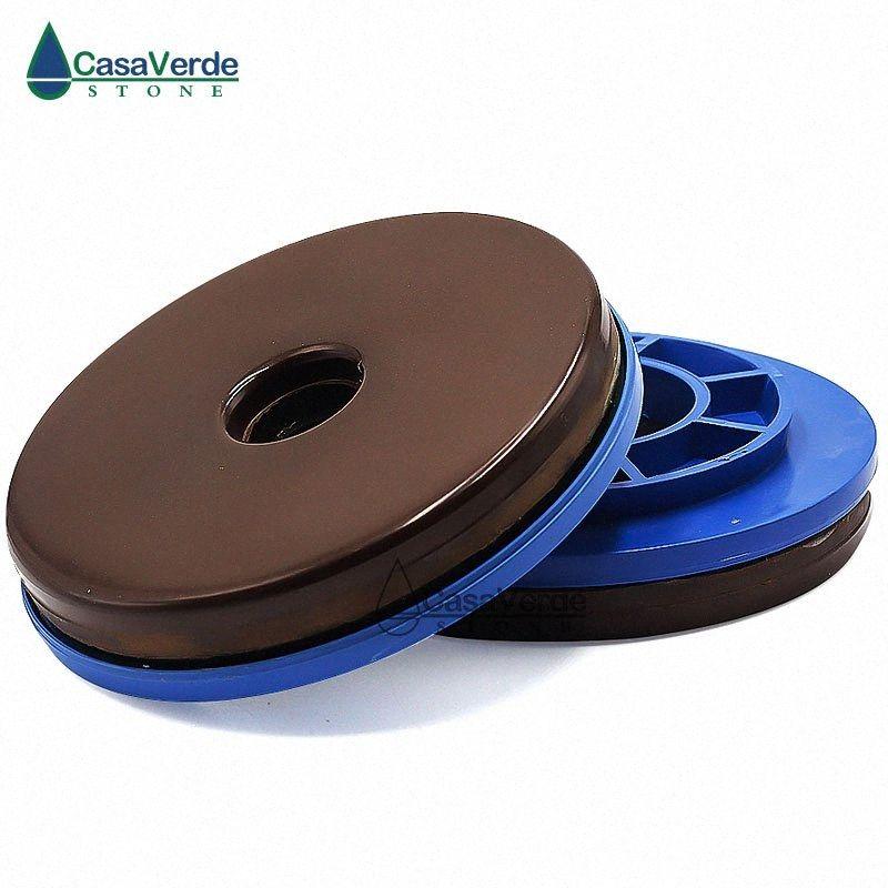 1pc / lot 10mm kalınlığı 125mm Kenar Polisaj Keçe Salyangoz Kilidi parlatma diski Elmas Zımpara Pad Mermer Granit Taşlama Aracı ha4r #
