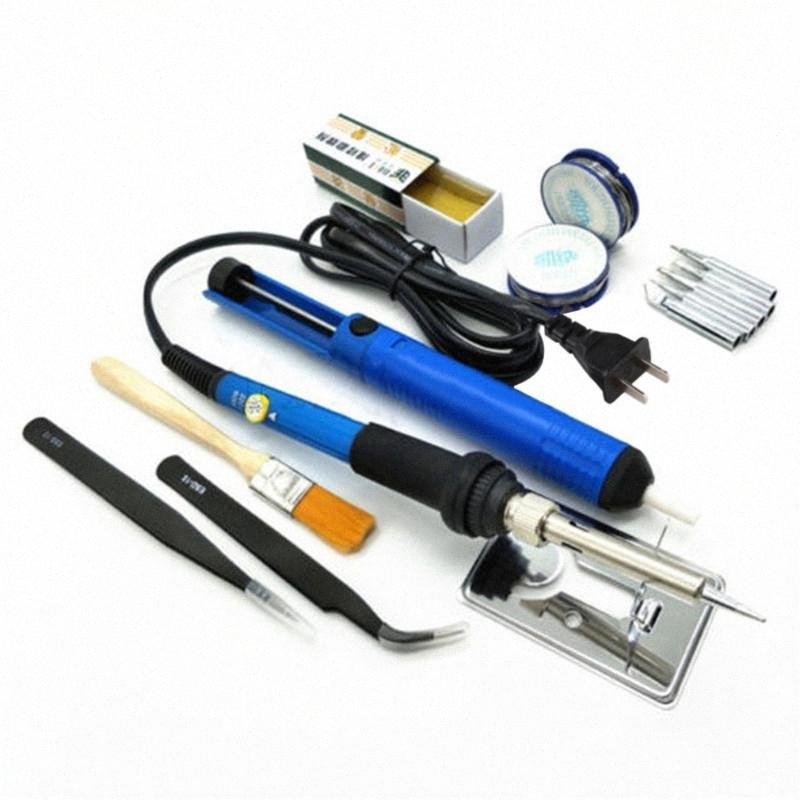 Solding Tel Cımbız Desoldering Pump zpwQ # ile 60W 200-450 Derece Ayarlanabilir Sıcaklık Elektrikli Havya Kaynak Aracı Kiti