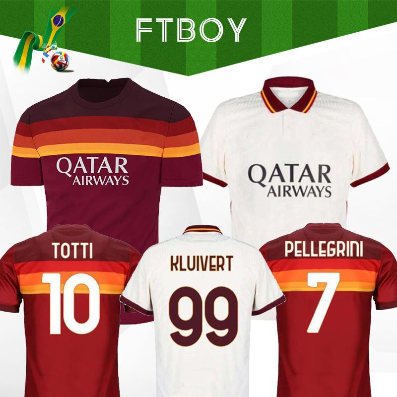 2020 DE ROSSI DZEKO ZANIOLO soccer jersey rome 20 21 TOTTI PEROTTI jersey 20 21 football shirt roma maillot de foot Men Kids sets uniforms