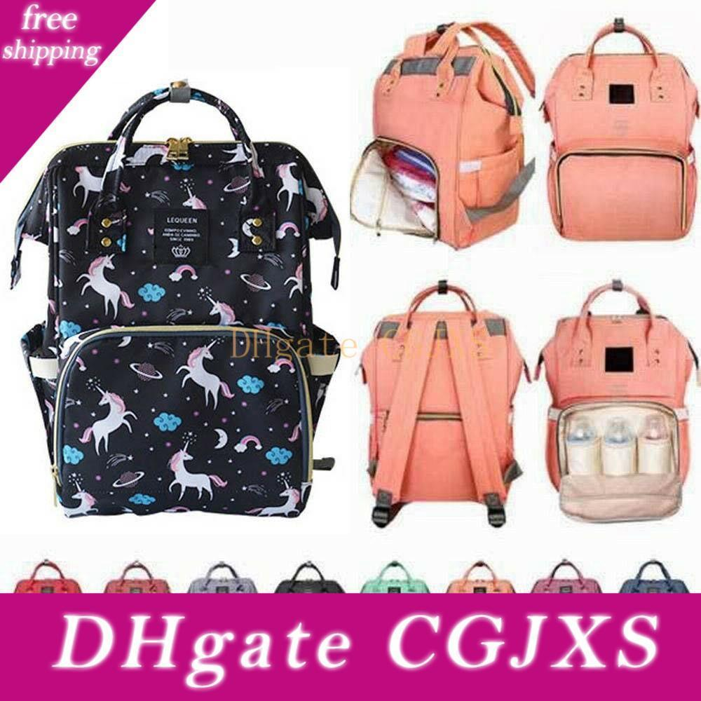 Diaper Backpack Unicorn Multi -Color Baby Mommy Changing Bag Mummy Backpack Nappy Mother Maternity Backpacks Oxford Cloth Mma1496 -Aa 10pcs
