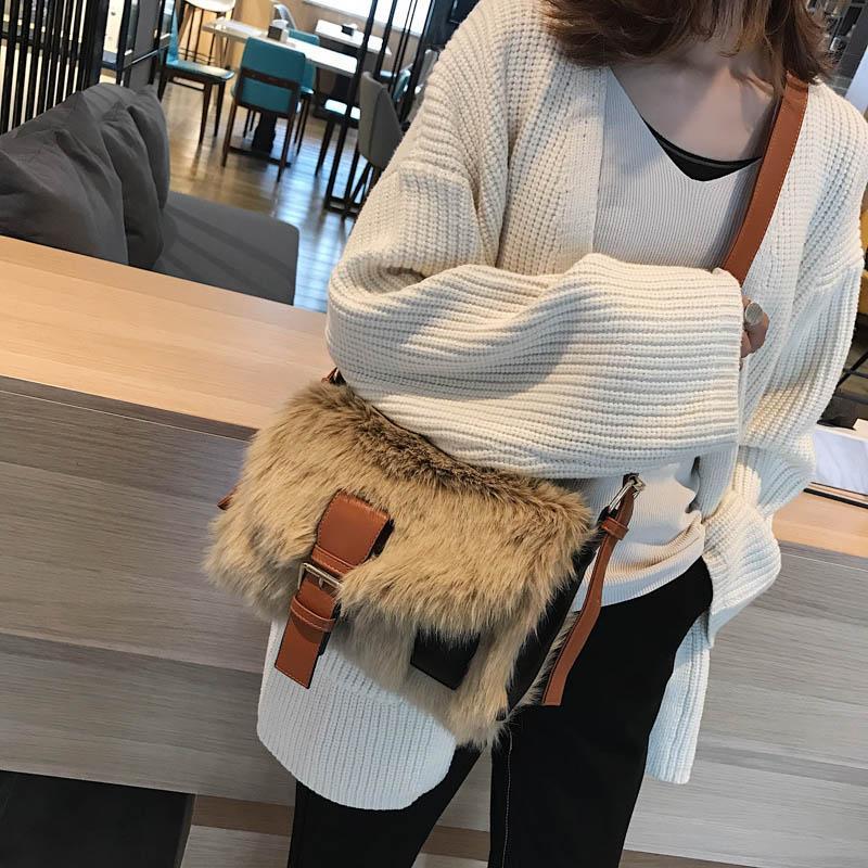 New-Crossbodybag Frauen sacken Luxus Frauen Handtaschen-Geldbeutel-Designer-Pelz-Schulter-Kurier-Beutel