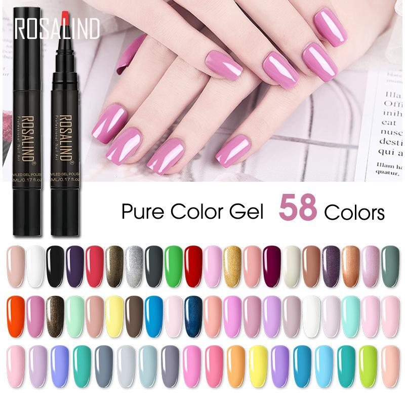 5ml Nail Polish Pen Need Cured by UV LED Lamp Soak-Off White Color for nail art Nail Gel 58 colors available J2630