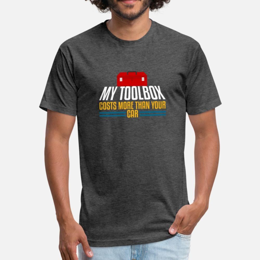 Benim Toolbox Otomobiliniz t gömlek erkekler Baskı Kısa Kollu O-Boyun Mektupları Sevimli Casual Bahar serin gömlek More Than Maliyetleri