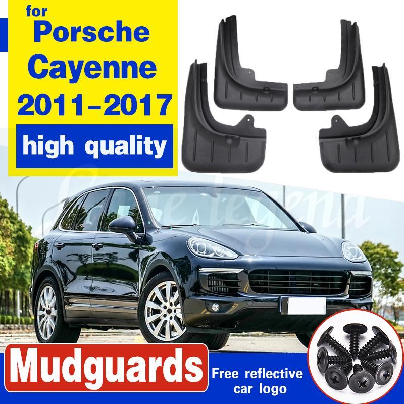 Boue Rabats Splash Guard pour Porsche Cayenne 2011-2017 moulage Garde-boue Fender Accessoires