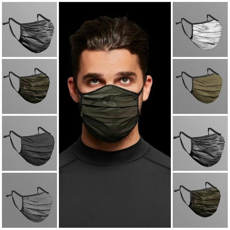 hot Camouflage Face Mask Fashion Breathable Dust-proof Washable Reusable Masks Unisex Mesh Cycling Mask Designer Masks T2I51372