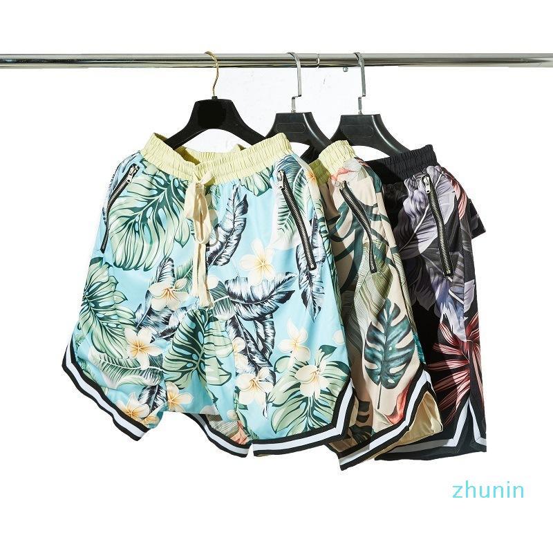 Moda- mens calções de designer medo do parágrafo Basketball Shorts Hawaii Sandy Beach Calças Tempo Lazer calções de praia