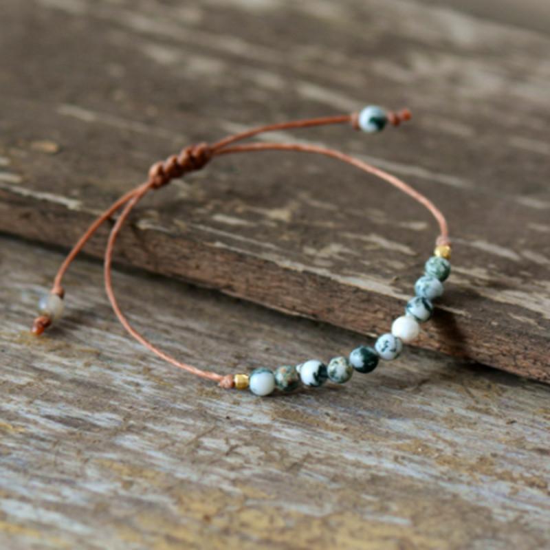 Catena del braccialetto donne calde Boho fatto a mano di pietra naturale Minimalismo Wrap amicizia del branello del braccialetto dei monili del regalo di festa Dropshipping