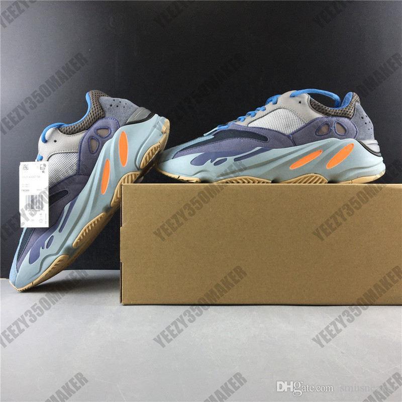 2020 700 V2 carbone bleu Kanye West Runner Hommes Sneaker kanyewest 700V3 sport Chaussures Homme Chaussures de course Homme Lumière Formateurs FW2498
