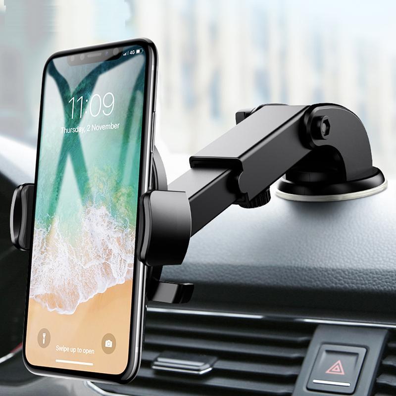 Universal Car Phone Holder pour Dashboard Samsung S9 S8 Smartphone Navigation Support Voiture pour téléphone En voiture Montage sur pied