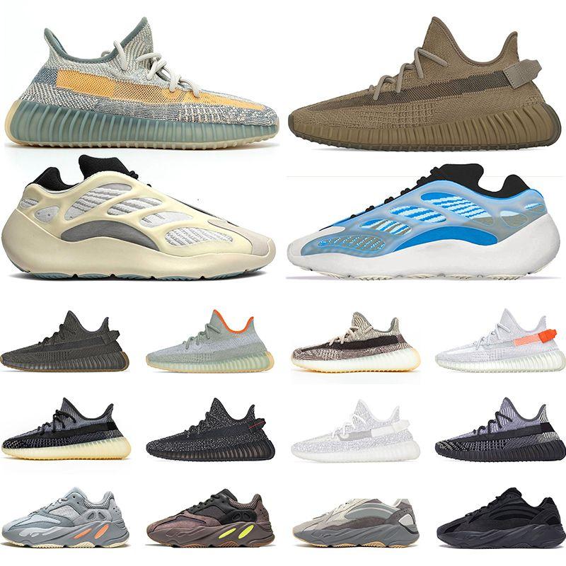 Sıcak Kanye West Bay Bayan Ayakkabı İsrafil cüruf Kuyruk Işık Zebra Statik 700 Dalga Runner Atalet Sneakers Sports Boyut 36-48 Koşu
