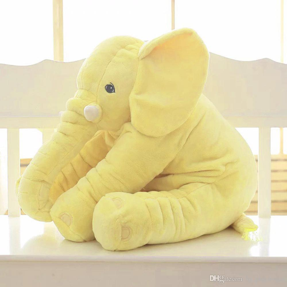 60cm Fil Bebek Peluş Oyuncak Karikatür Doldurulmuş Hayvanlar Yastık Sevimli Yumuşak Peluş Bebek bebek Hediye Çocuklar Oyuncaklar İçin eşlik Sleeping